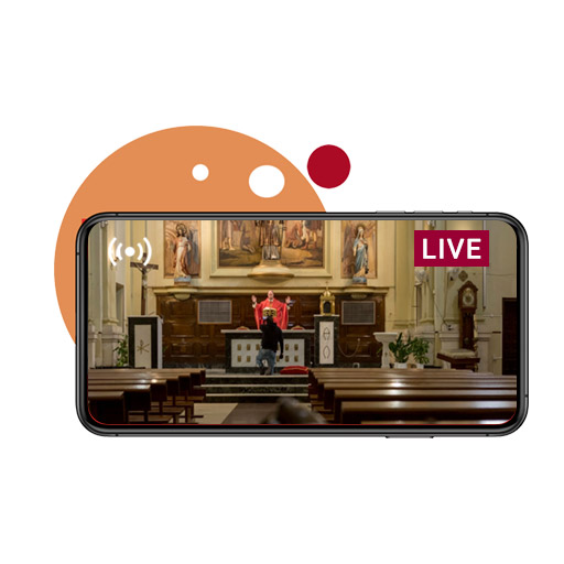 Broadcast church events through live streaming.